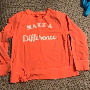 Old navy make a difference sweatshirt  large